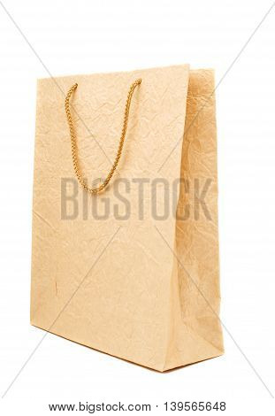 paper bag business equipment on white background