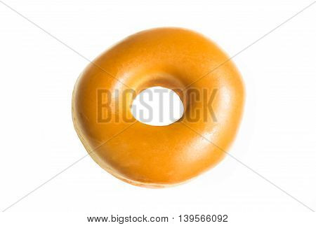 Donut Isolated on a White Background .