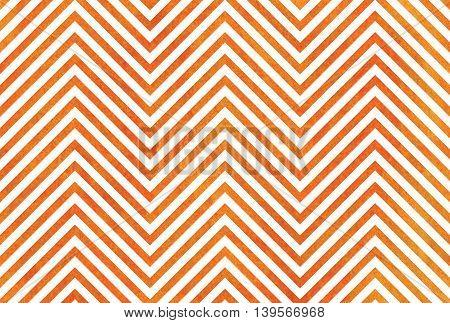 Watercolor Orange Stripes Background, Chevron.