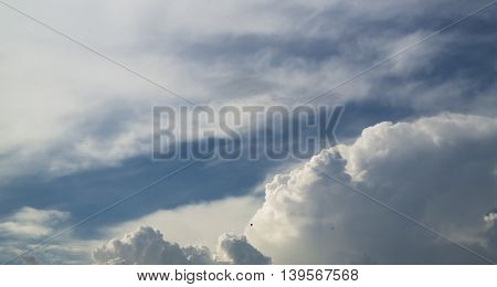 Sky, blue sky, blue sky and clouds, beautiful blue summer sky, blue sky and white clouds, panorama