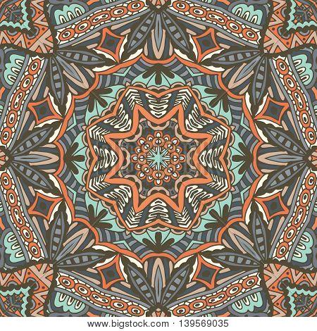 Traditional filigree vector ornament. seamless pattern. Mandala design