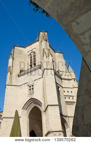 Bell tower of Notre-Dame in Villefranche-de-Rouergue France