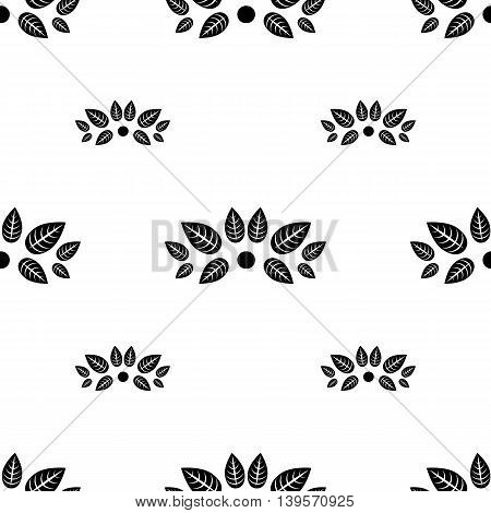 Vintage Seamless Background With Monogram In Beige