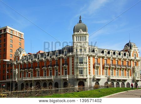 Beautiful palace on the Plaza of Spain in Madrid