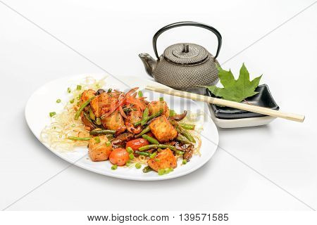 Fried tofu in sweet sauce with spices