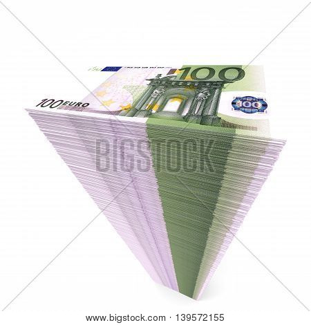 Stack Of Banknotes. One Hundred Euros.
