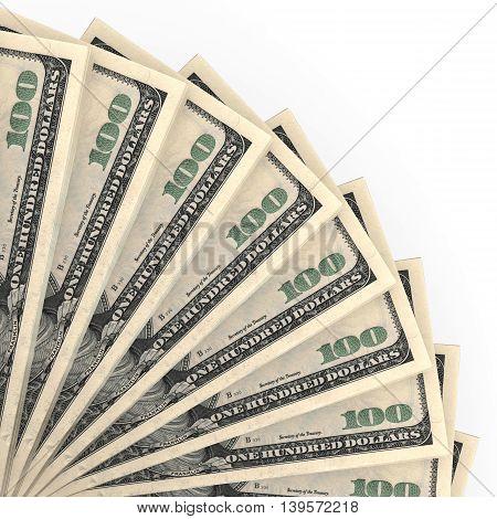 Money Fan. One Hundred Dollars.