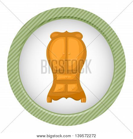 Cupboard icon. Vector illustration in cartoon style