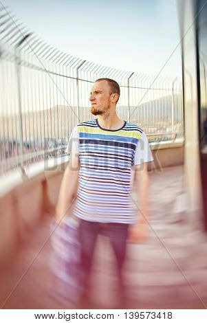 Portrait Of Attractive Man With Casual Clothes
