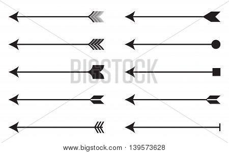 Arrows icon set. Vector illustration EPS 10