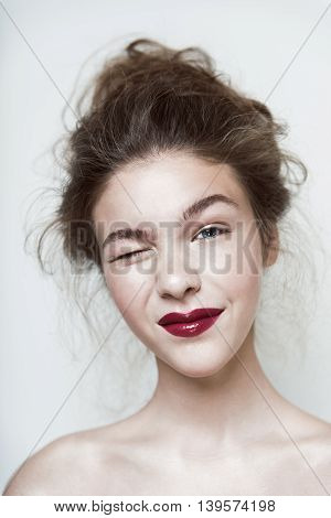 clean face natural skin beauty highlight portrait
