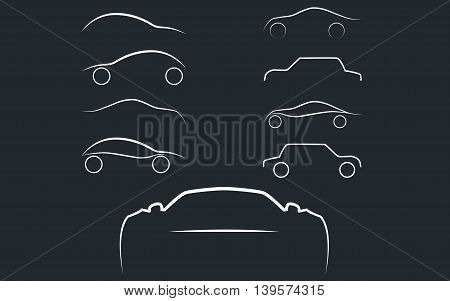 Cars logo set. Cars isolated. Transport logo. Vector Illustration, EPS 10