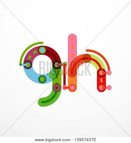 Geometric design letters. Minimal icon