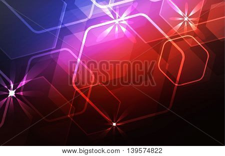 Glare light background. Vector illustration, EPS 10