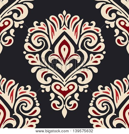 vintage damask seamless ornamental pattern for fabric