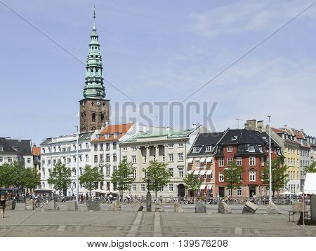 city view of Copenhagen the capital city of Denmark