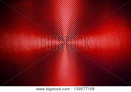 red metal plate with rays background