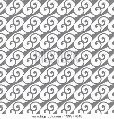 Seamless pattern. Modern abstract texture. Repeating geometric tiles with scrolls.