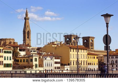 view of old Florence , Tuscany, Italy