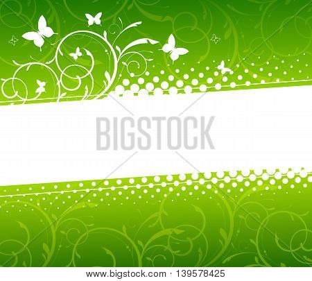 Abstract ornamental summer floral background. Vector illustration