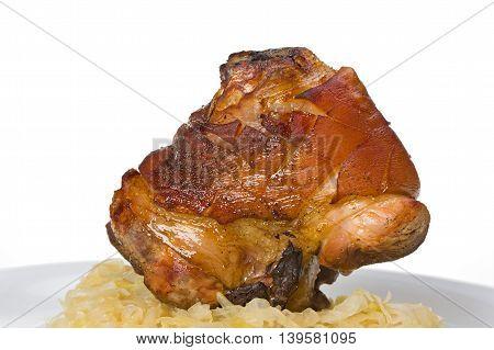 bavarian knuckle of pork with potato dumpling