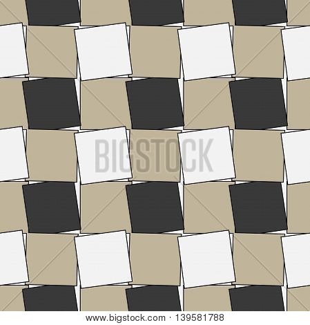 Seamless pattern. Modern abstract texture. Repeating geometric tiles with twisted squares.