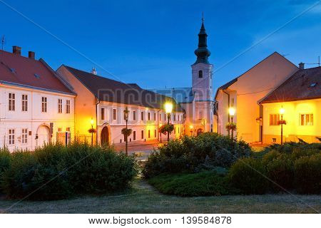 Pribina square in the old town of Nitra.