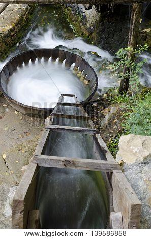 Washing with water in the Etar Gabrovo Bulgaria