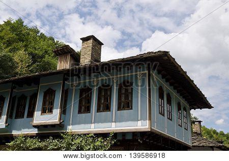 Houses in the ethnographic museum Etar in Gabrovo Bulgaria