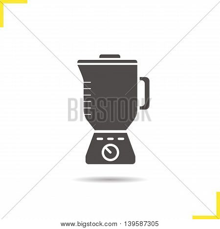 Blender icon. Drop shadow silhouette symbol. Mixer. Vector isolated illustration