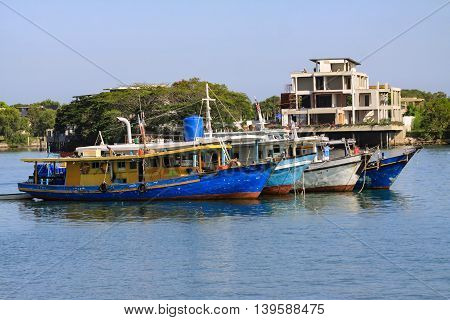 Fishing Boat Park At Harbor