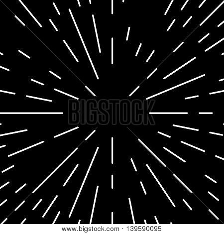 Radial Bursting Lines Circular Monochrome Geometric Pattern