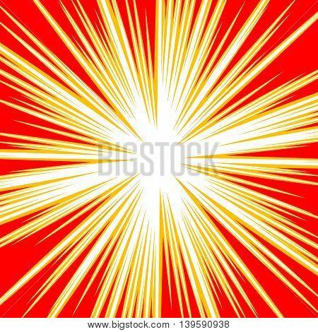 Bursting Radial Lines Dutone Explosion Effect. Starburst, Sunburst Element.