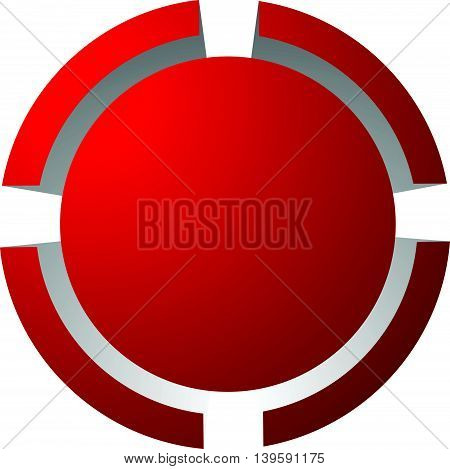 Target Mark, Reticle, Crosshair Icon For Focus, Accuracy, Targeting Concepts.