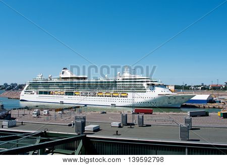 Passenger Ship Brilliance Of The Seas In Port  Of Helsinki, Finland,