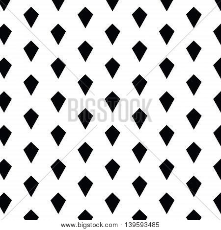 Simple geometric seamless vector pattern with diamond shapes. Abstract background with black rhombs