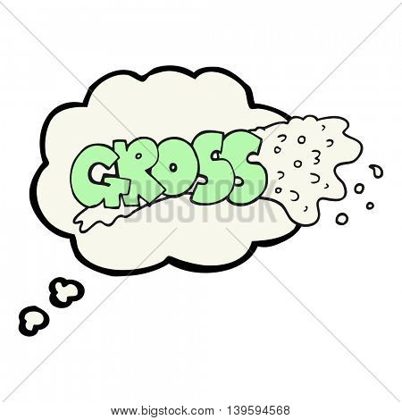 gross freehand drawn thought bubble cartoon
