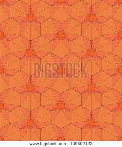 Vector Illustration Of Geometric Pattern In The Form Of A Hexagon