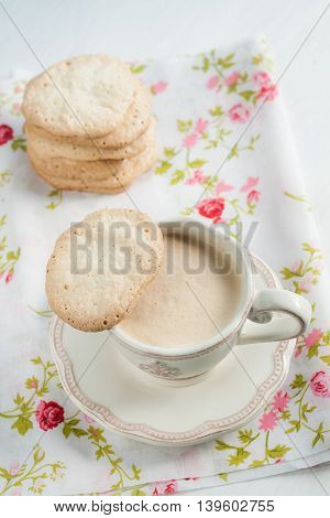 Flat Almond Biscuits Vintage Kitchenware In The Style Of Provence