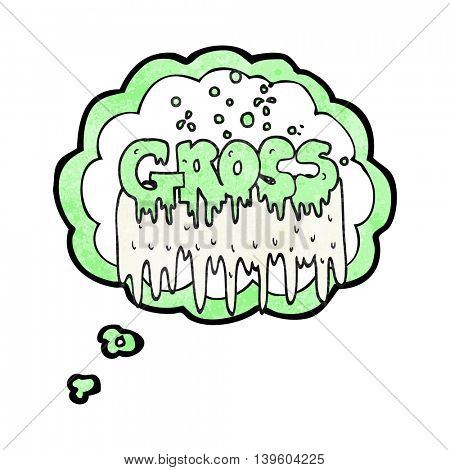 freehand drawn thought bubble textured cartoon gross symbol