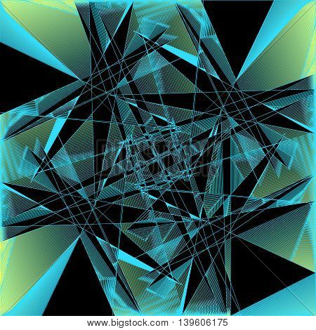 Geometric pattern. Background or pattern of a clear black and blue lines on a beige background