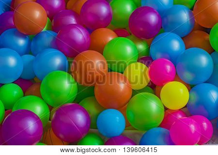 Plastic colored balls for children to play