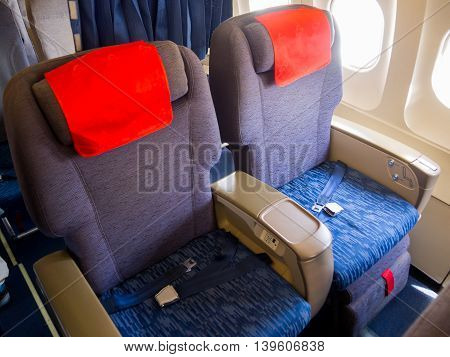 Places of business class in the cabin aircraft