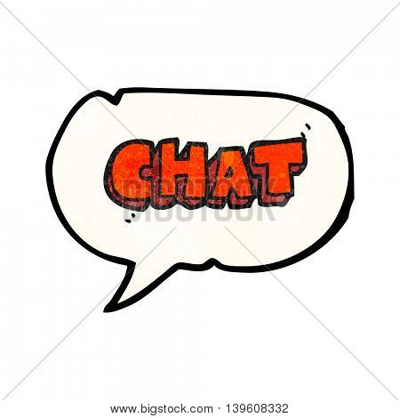 freehand speech bubble textured cartoon chat symbol
