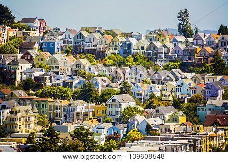 urban oldcenic  houses in San Francisco