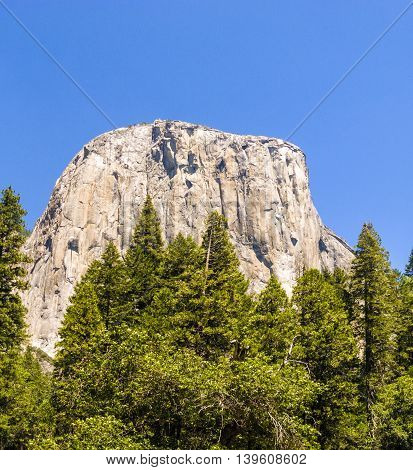 Famous Rock Formation In The Romantic Valley Of Yosemite