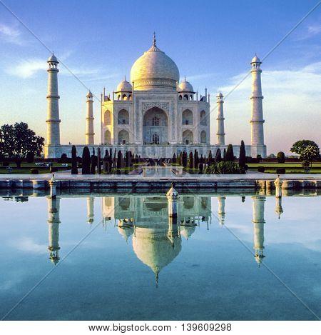 Taj Mahal in Agra in early morning