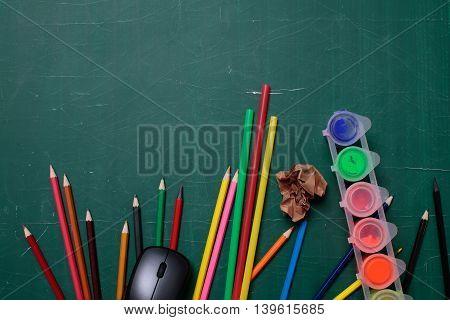 School Stationery On Desk