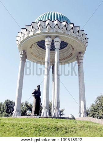 Alisher Navoi Memorial in Tashkent the capital of Uzbekistan