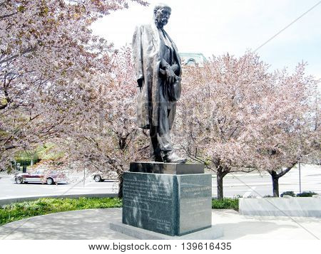 Statue of Tomas Masaryk in Washington DC USA